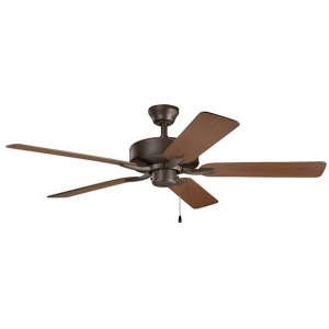 "52"" Basics Pro Patio Fan Satin - Natural Bronze"