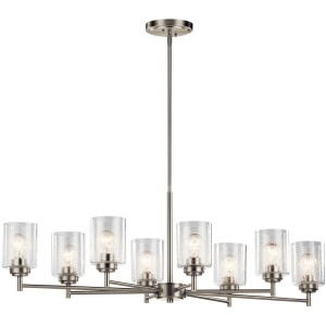 Winslow™ 8 Light Chandelier - Brushed Nickel