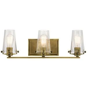 Alton 3 Light Vanity Light - Natural Brass