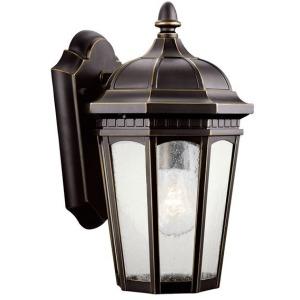 "Courtyard 11"" 1 Light Wall Lantern - Rubbed Bronze"