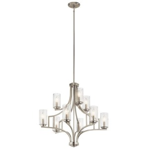 Vara 9 Light Chandelier - Brushed Nickel