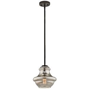 Everly Collection Mini Pendant 1 Light OZ (Olde Bronze)