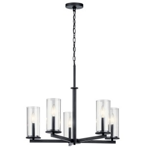 Crosby 5 Light Chandelier - Black