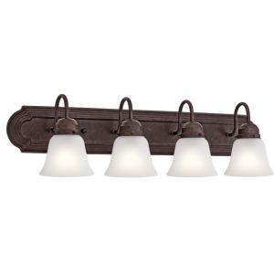 4 Light Vanity Light - Tannery Bronze