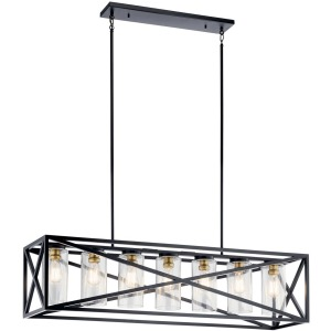 Moorgate™ 7 Light Linear Chandelier - Black