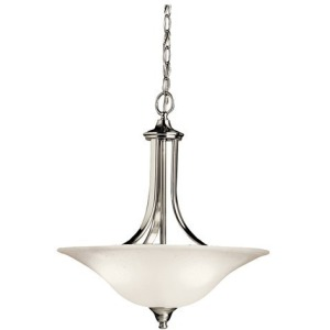 Dover 3 Light Convertible Inverted Pendant -Brushed Nickel