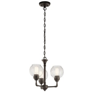 Niles 3 Light Convertible Chandelier - Olde Bronze