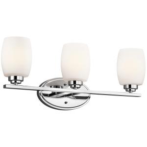 Eileen 3 Light Vanity - Light Chrome