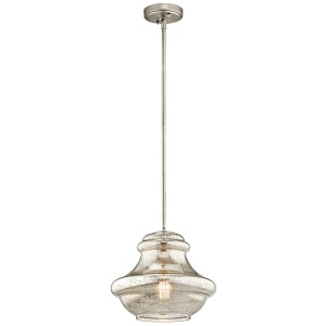Everly Collection 1 Light Pendant Brushed Nickel (Brushed Nickel)