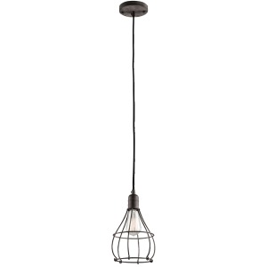 Industrial Cage 1 Light Mini Pendant - Weathered Zinc