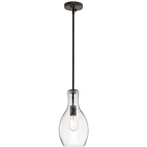 Everly Collection 1 LIght Pendant Olde Brone (Olde Bronze)
