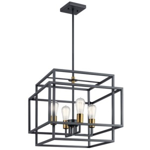 Taubert 4 Light Pendant - Black