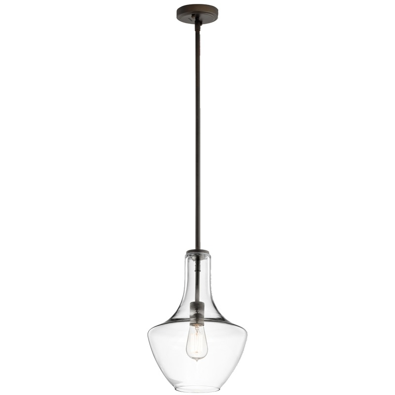 Everly Collection 1 Light Pendant Olde Bronze (Olde Bronze)