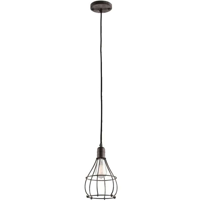 Industrial Cage Collection Industrial Cage 1 Light Mini Pendant - Weathered Z