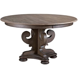 "GRANT ROUND DINING TABLE-COMPLETE (w/1-20"" LEAF)"