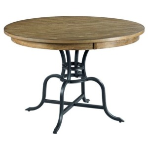"44"" Round Dining Table w/Metal Base"
