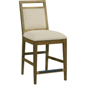 The Nook Counter Height Upholstered Chair - Brushed Oak