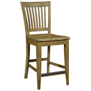 The Nook Counter Height Slat Back Chair - Brushed Oak