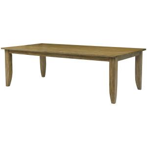 "The Nook 80"" Large Rectangular Leg Table - Brushed Oak"