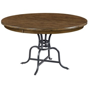 "54"" ROUND DINING TABLE WITH METAL BASE"