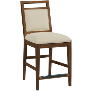 The Nook Counter Height Upholstered Chair - Hewned Maple