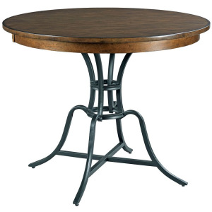 """The Nook 54"""" Round Counter Height Table With Metal Base - Hewned Maple"""