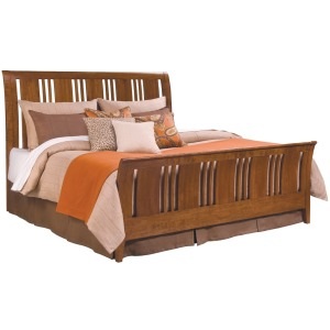 Cherry Park Sleigh Bed - King
