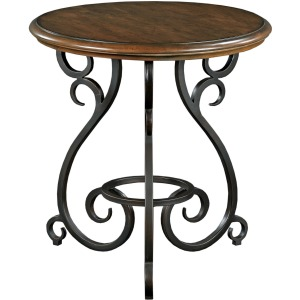 Portolone Accent Table with Metal Base
