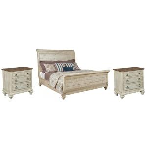 Weatherford Cornsilk 3 PC King Sleigh Bedroom Set