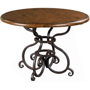 "Artisan\'s Shoppe Dining 44"" Round Dining Table - Metal Base - Tobacco"