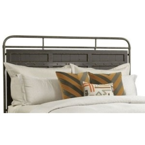 Folsom Queen Metal Bed Headboard-anvil Finish