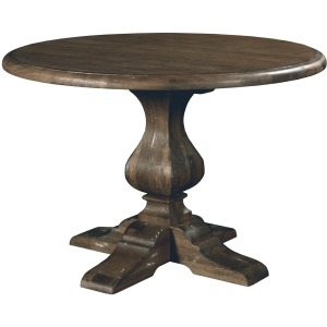 "Artisan\'s Shoppe Dining 44"" Round Dining Table - Wood Base - Black Forest"