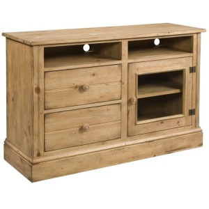 Homecoming Vintage Pine Entertainment Console