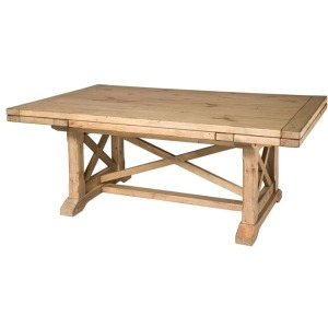 Homecoming Vintage Pine Refractory Trestle Table