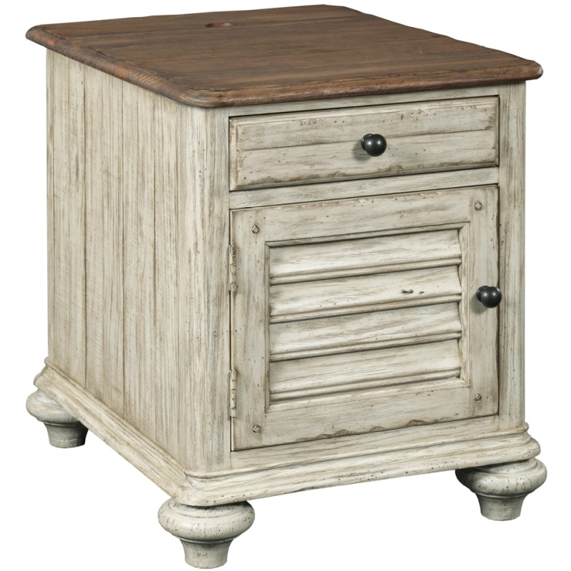 Weatherford Weatherford Chairside Table - Cornsilk