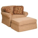 Bentley Fabric Chair and 1/2 & Ottoman