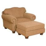 Helen Fabric Chair & Ottoman