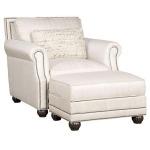 Julianna Fabric Chair & Ottoman