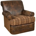 Monica Swivel Leather/Fabric Chair