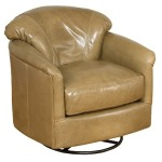 Zeuss Leather Swivel Glide Chair