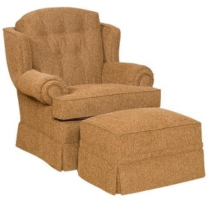 Valerie Fabric Chair & Ottoman