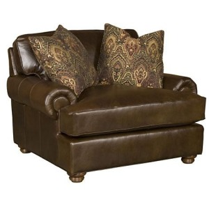 Henson Leather Chair & 1/2
