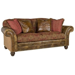 Katherine Leather/Fabric Sofa