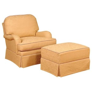Daphney Swivel Chair & Ottoman