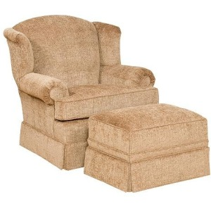 Taylor Fabric Chair & Ottoman