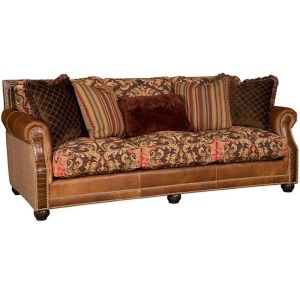 Julianna Leather Fabric Sofa
