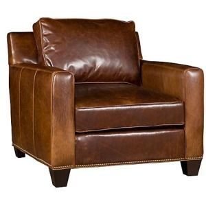 Java Leather Chair & Ottoman