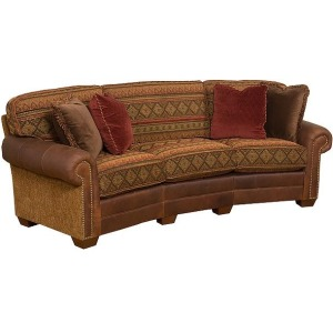 Bentley Leather/Fabric Conversation Sofa
