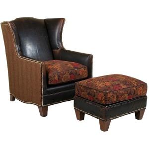 Athen Leather/Fabric Ottoman