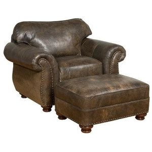 Santana Leather Chair & Ottoman